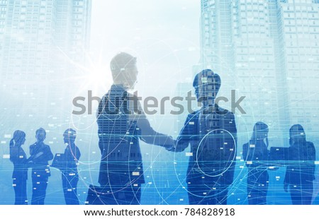 Business and technology concept. #784828918