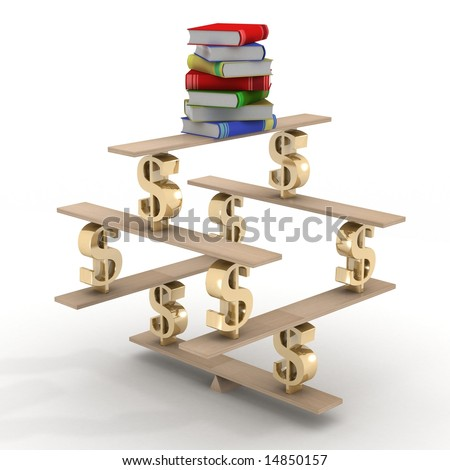 Business and training. 3D image. - stock photo
