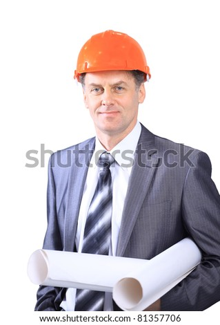 business architect at construction site