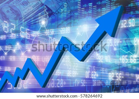 Business arrow graph abstract background, Stock market graphs