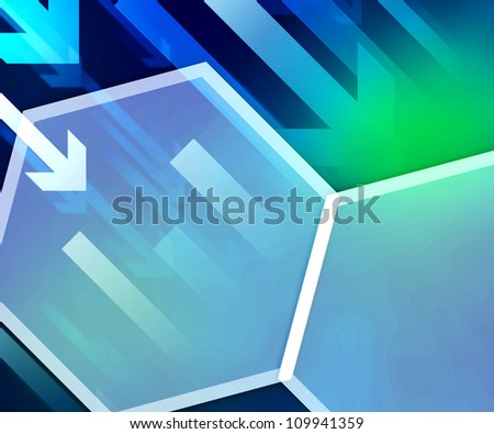 Business Background Blue Hexagon