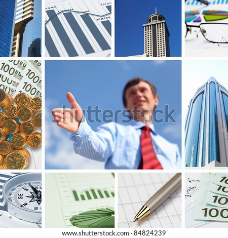 Business background collage of some business pictures