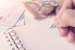 Business banking plan concept, Manage money, Saving Money.