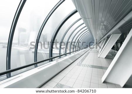 business black hallway