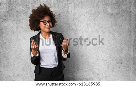 business black woman doing rich gesture #613165985