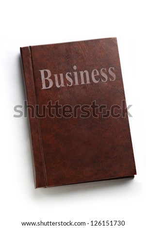 Business book on white background
