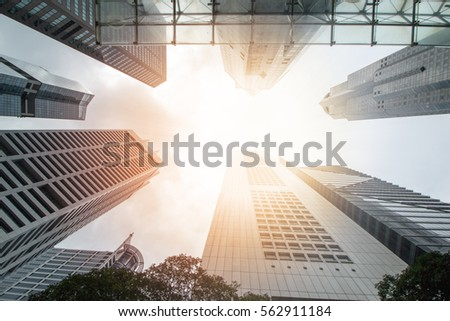 business building commercial exterior modern at noon. #562911184