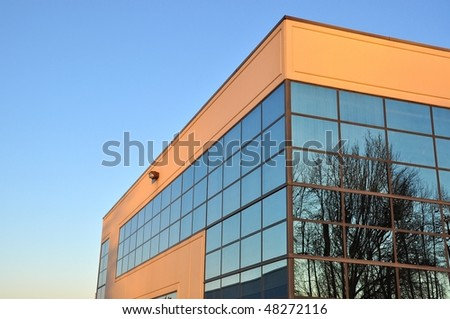 Business building in BC Canada - stock photo