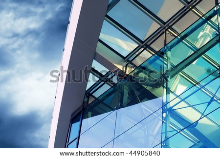 Business buildings architecture on sky background #44905840