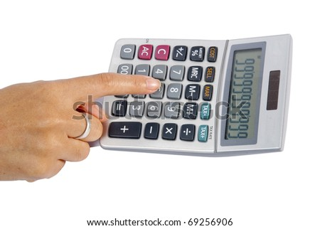 Business calculator isolated on white background - stock photo