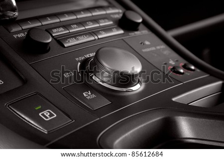 Business car interior - stock photo