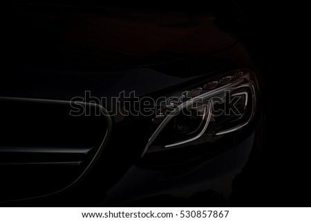 Business car silhouette. #530857867