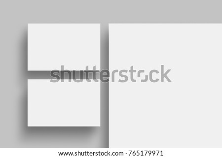 Business Card And Letterhead Blank Template Set Identity Mock Up