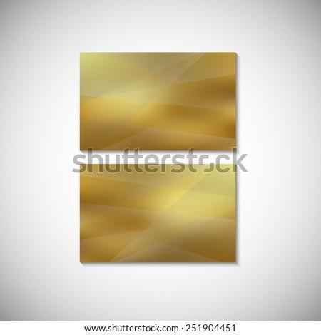 Business card gold design template. Banner design template. Corporate style design template.