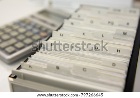 Business Card Index Holders