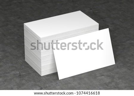 Business cards blank mockup, 3D illustration