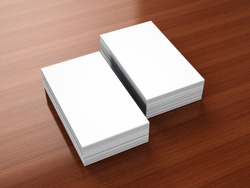 Business cards blank mockup - portrait orientation template