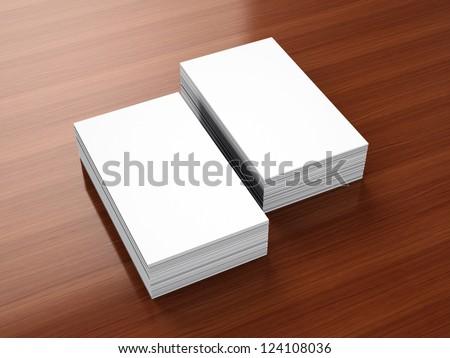 Business cards blank mockup - portrait orientation template