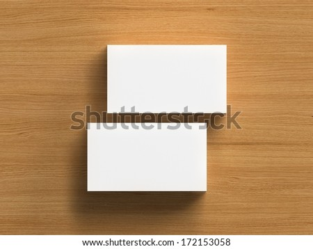 Business cards blank mockup - template