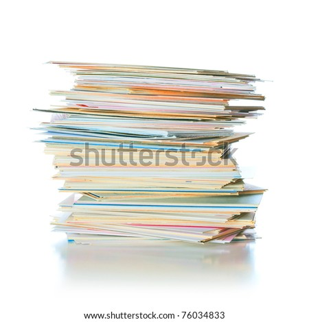 business cards on the table isolated