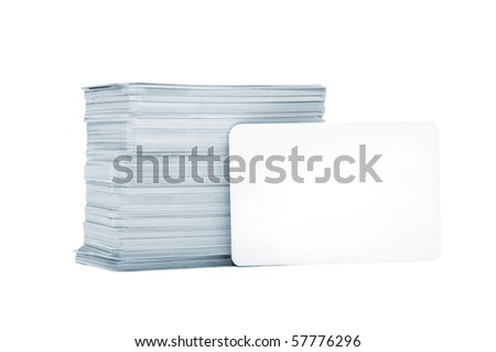 Business cards with rounded corners on a white background