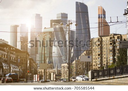 Business center Moscow-City is one of the largest construction projects in Europe