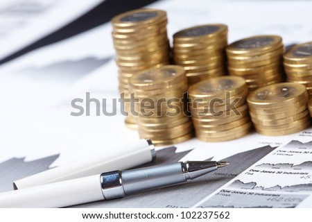 business chart, coin