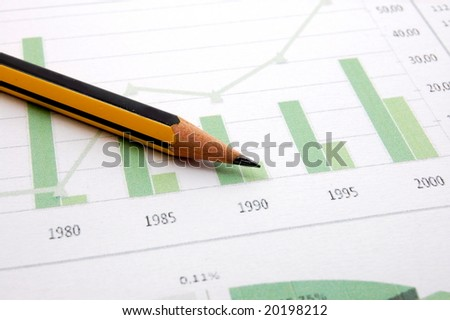 business chart showing financial success at the stock market