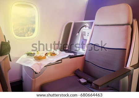 Business Class Airplane Meal