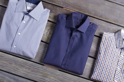 Business classic men's shirts with different prints.