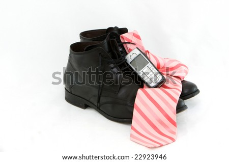 Business clothing with phone