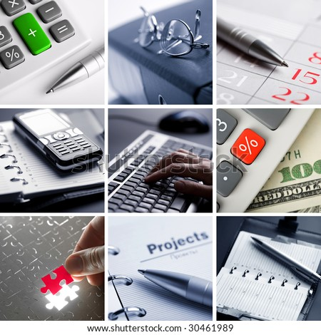 business collage of nine photos