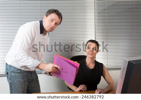 Business Colleagues Working At Desk #246382792