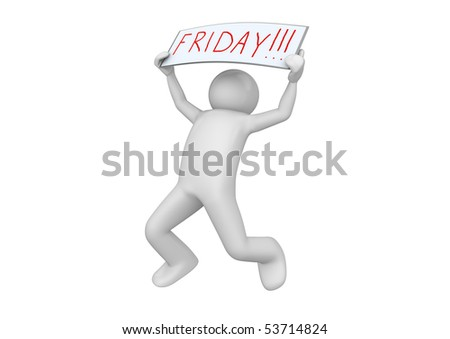 Business collection - Friday! - stock photo