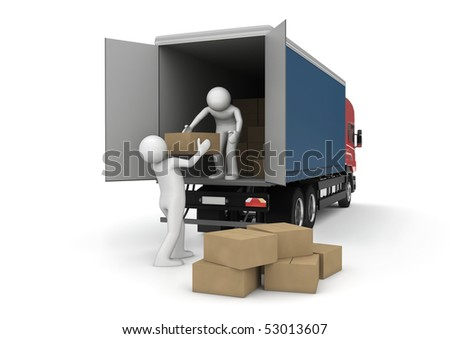 Business collection - Loaders with cargo boxes