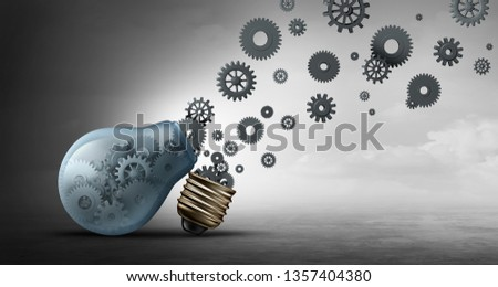 Business communication concept and communicating propaganda or innovation symbol as an open lightbulb or light bulb as a 3D illustration.