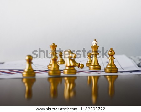 Business competition make by chess #1189505722