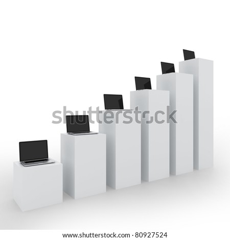 Business Computers Technology on a White Background