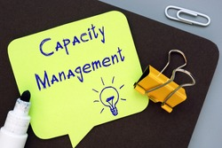 Business concept about Capacity Management with sign on the piece of paper.