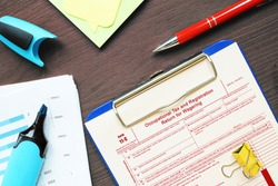 Business concept about Form 11-C Occupational Tax and Registration Return for Wagering with sign on the sheet.