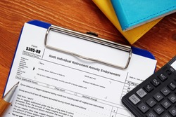 Business concept about Form 5305-RB Roth Individual Retirement Annuity Endorsement with sign on the sheet.