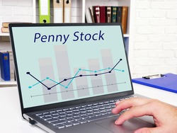 Business concept about Penny Stock with sign on the sheet.