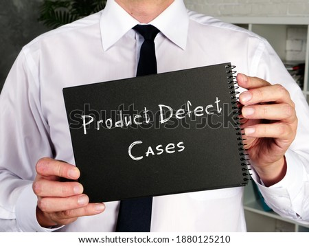 Business concept about Product Defect Cases with phrase on the sheet. Stockfoto ©