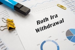 Business concept about Roth Ira Withdrawal with phrase on the sheet.