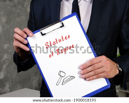 Business concept about Statutes of Repose with phrase on the page. Photo stock ©