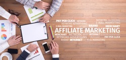 Business Concept: Affiliate Marketing Word Cloud