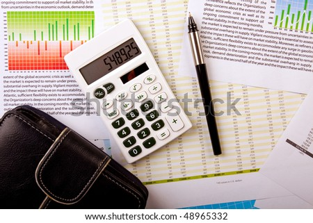 Business concept, bank statement