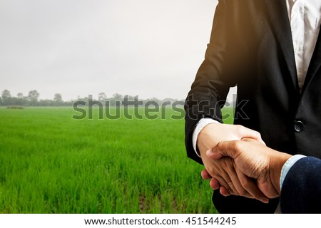 Business concept.Business handshake land purchase #451544245
