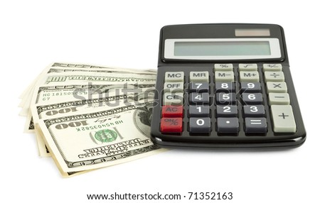 Business concept. Calculator on dollars