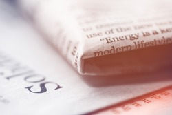 Business concept, Close up of newspaper